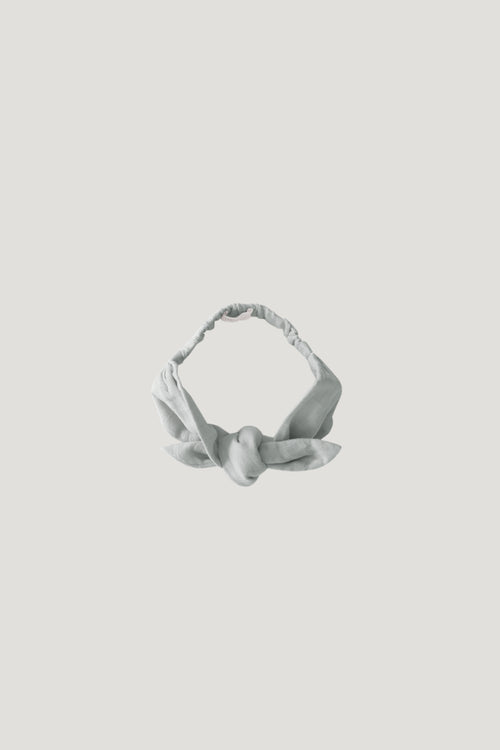 Organic Cotton Muslin Headband - Light Grey