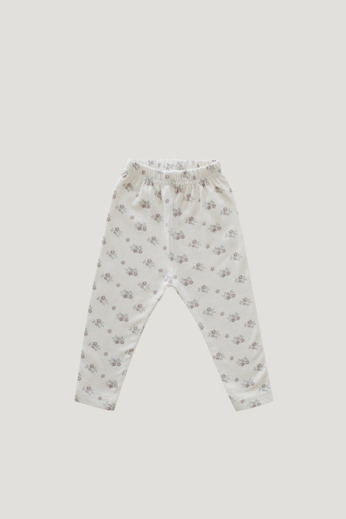 Organic Cotton Legging - Rose Floral