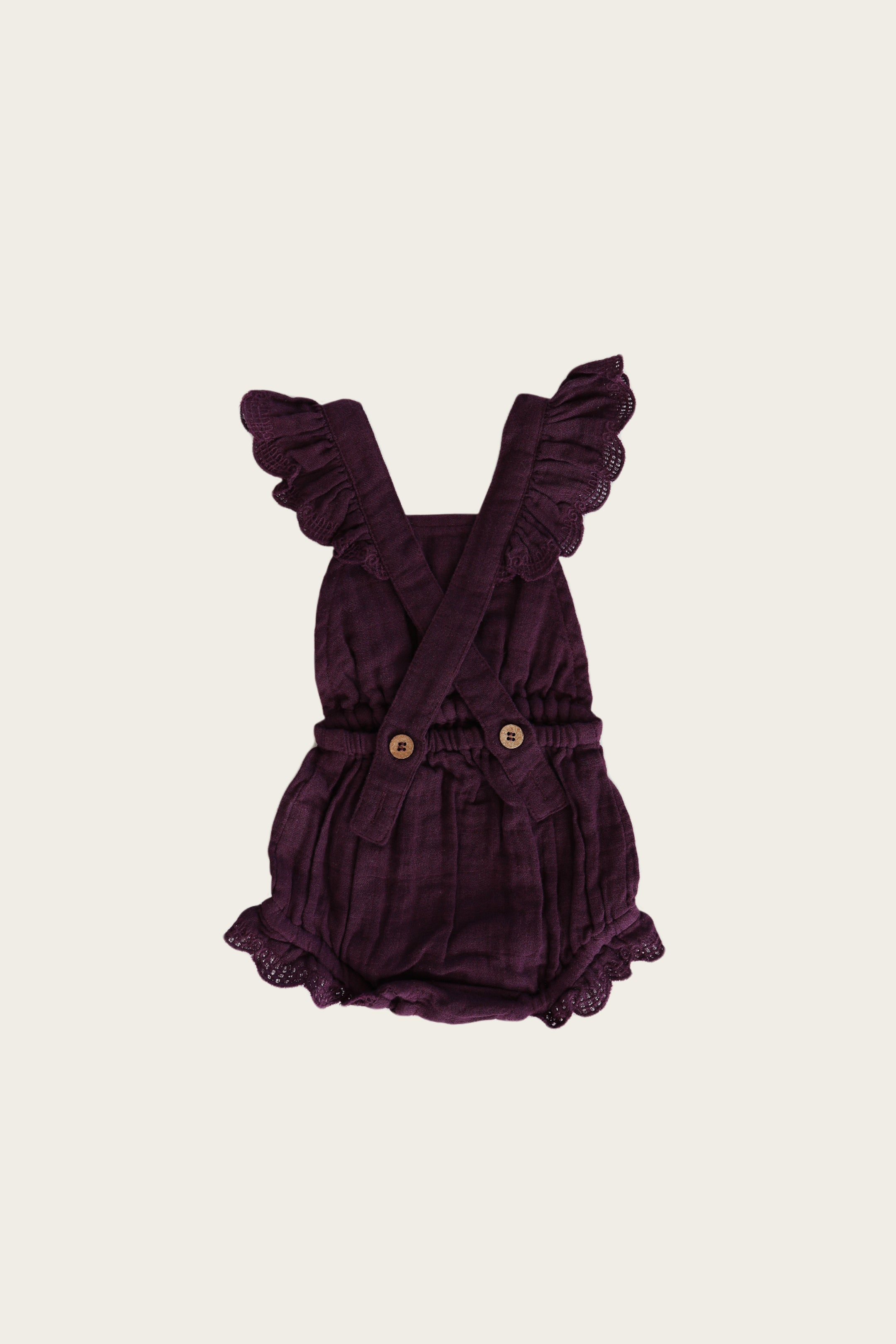 Organic Cotton Muslin Indie Playsuit - Fig