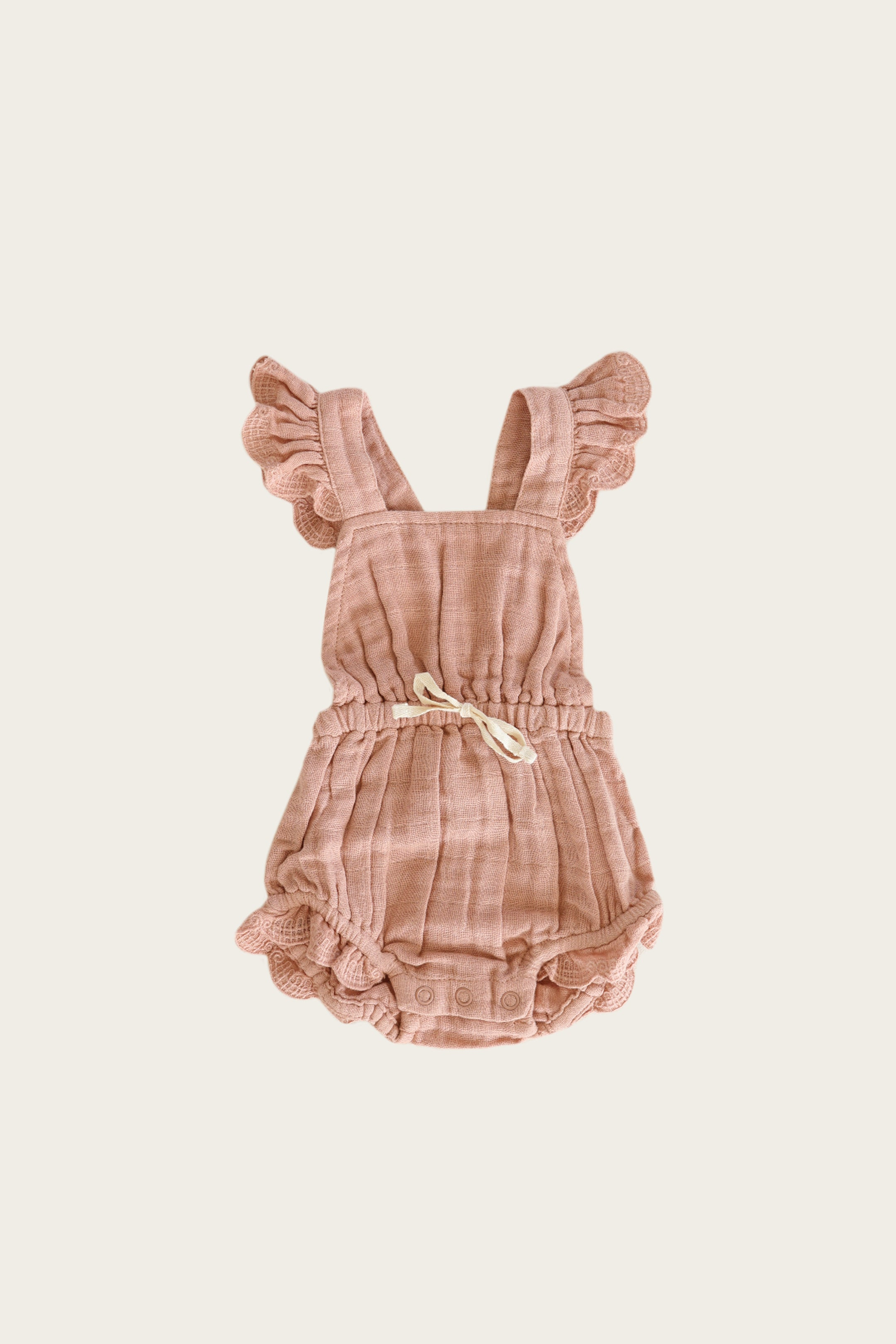 Organic Cotton Muslin Indie Playsuit - Sunset
