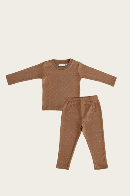 Organic Cotton Long Pyjama - Tiny Dots
