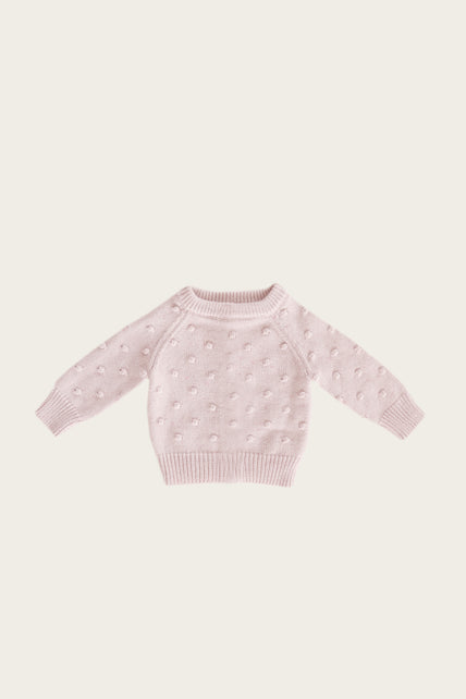 Dotty Knit - Old Rose Fleck