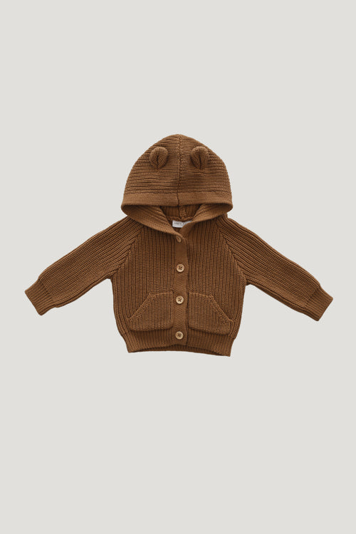 Bear Cardigan - Camel