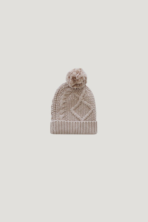 Cable Knit Hat - Candy Floss