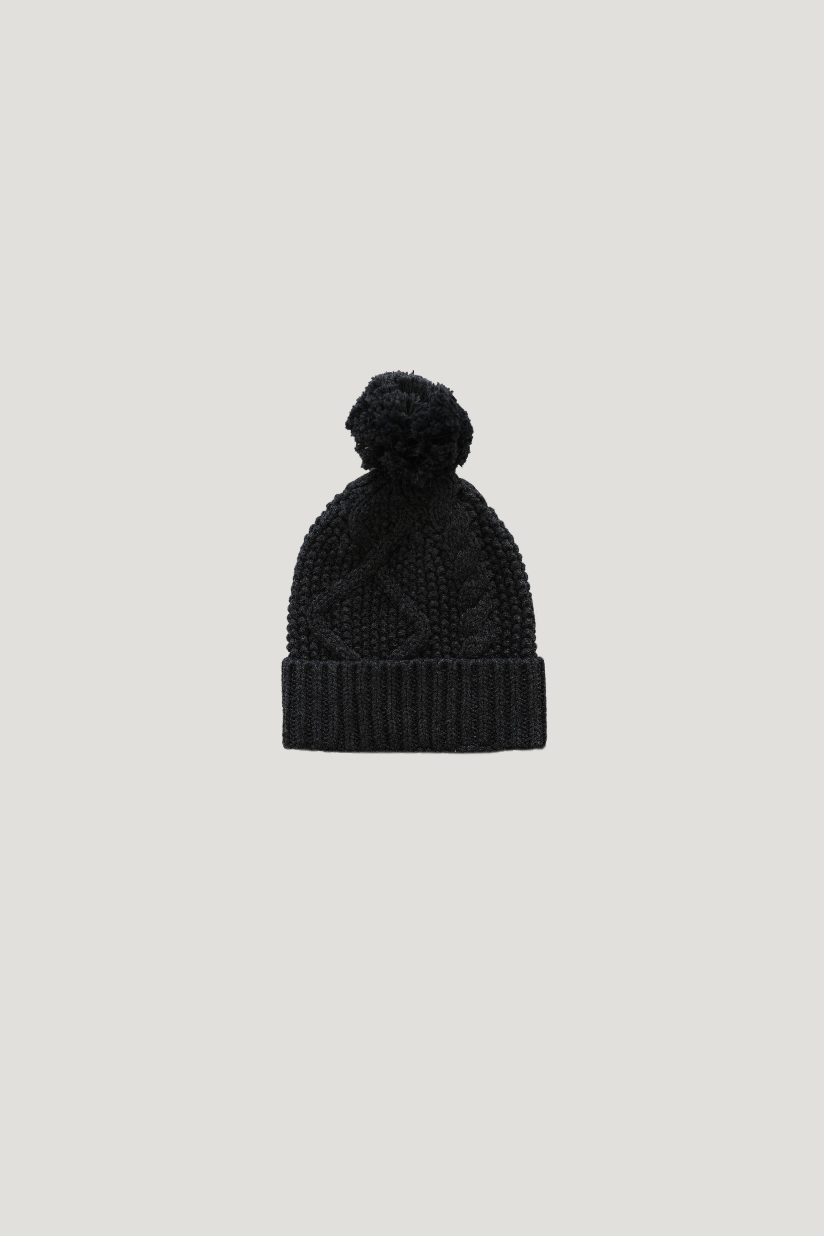 Cable Knit Hat - Shadow Marle