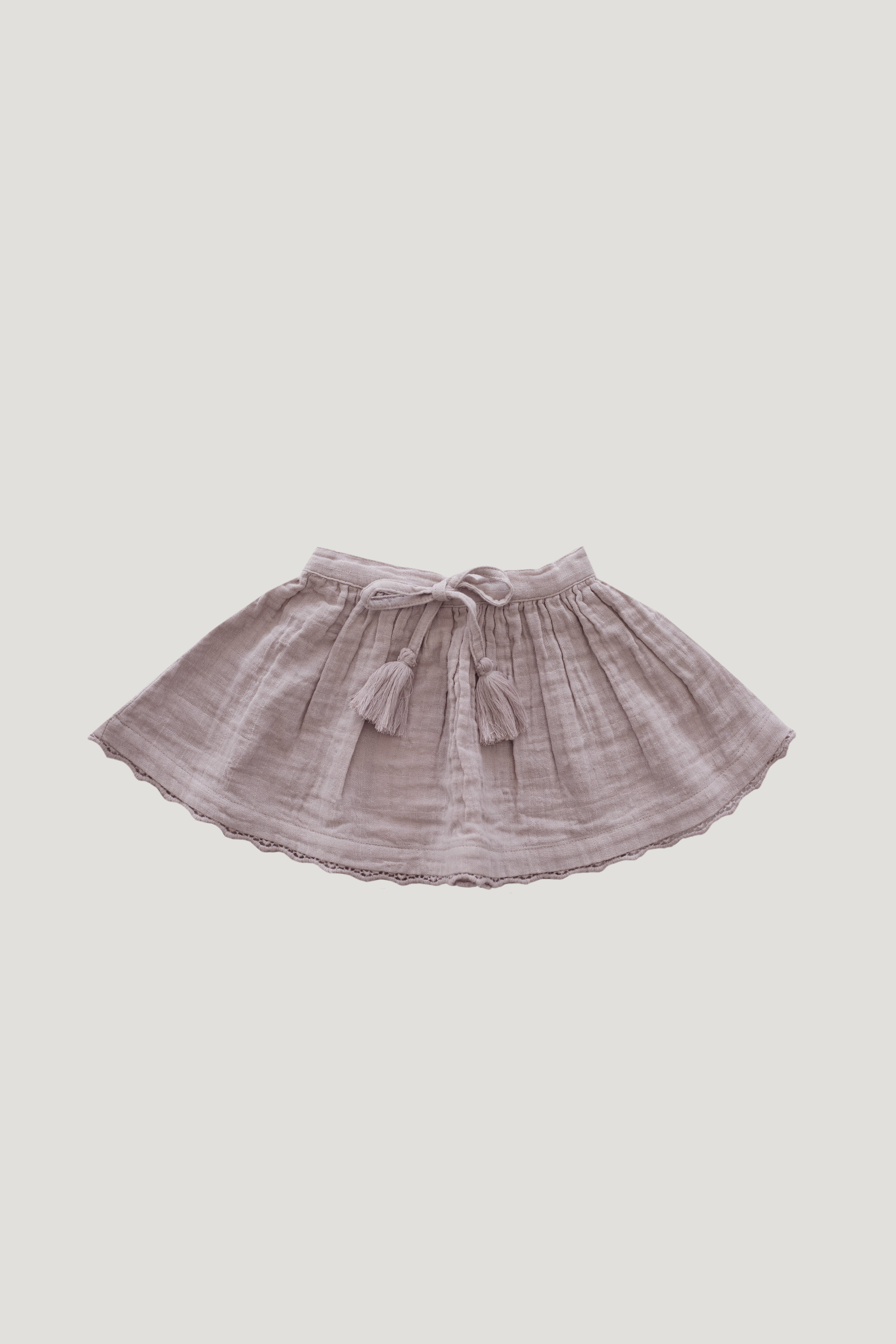 Organic Cotton Muslin Lace Hazel Skirt - Sweetpea