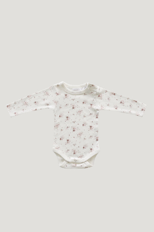 Organic Cotton Bodysuit - Sweet William Floral