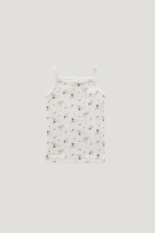 Organic Cotton Singlet bodysuit - Sweet William Floral