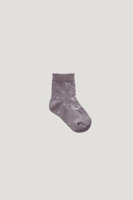 Emme Floral Sock - Fawn
