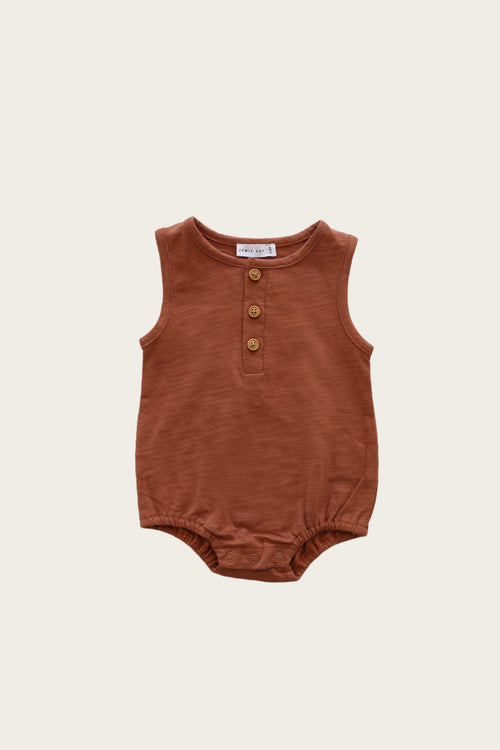 Slub Cotton Riley Romper - Glow