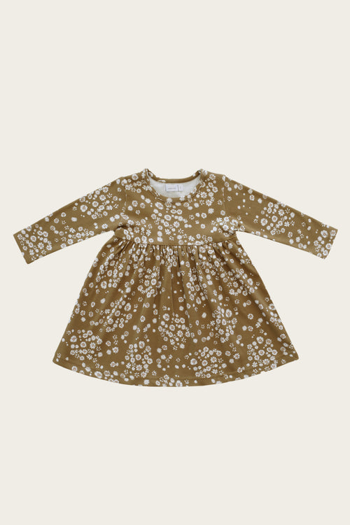 Organic Cotton Pixie Dress - Daisy Floral