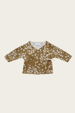 Organic Cotton Muslin Sammie Top - Gold