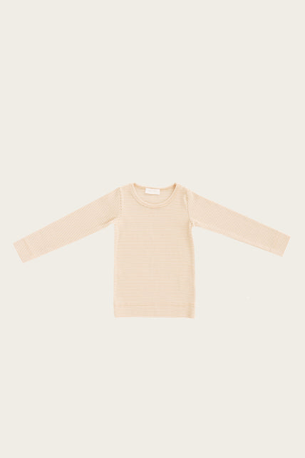Organic Cotton Charlie Top - Honey Peach Stripe