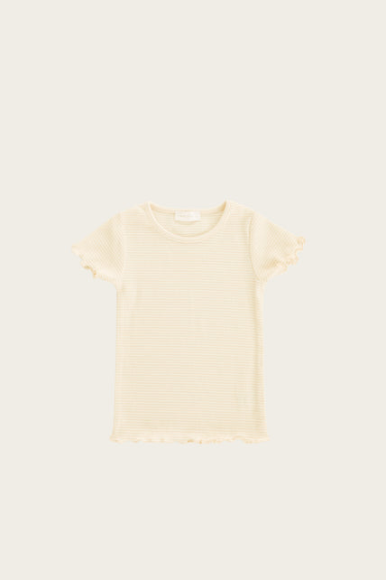 Organic Cotton Lily Tee - Pear Stripe