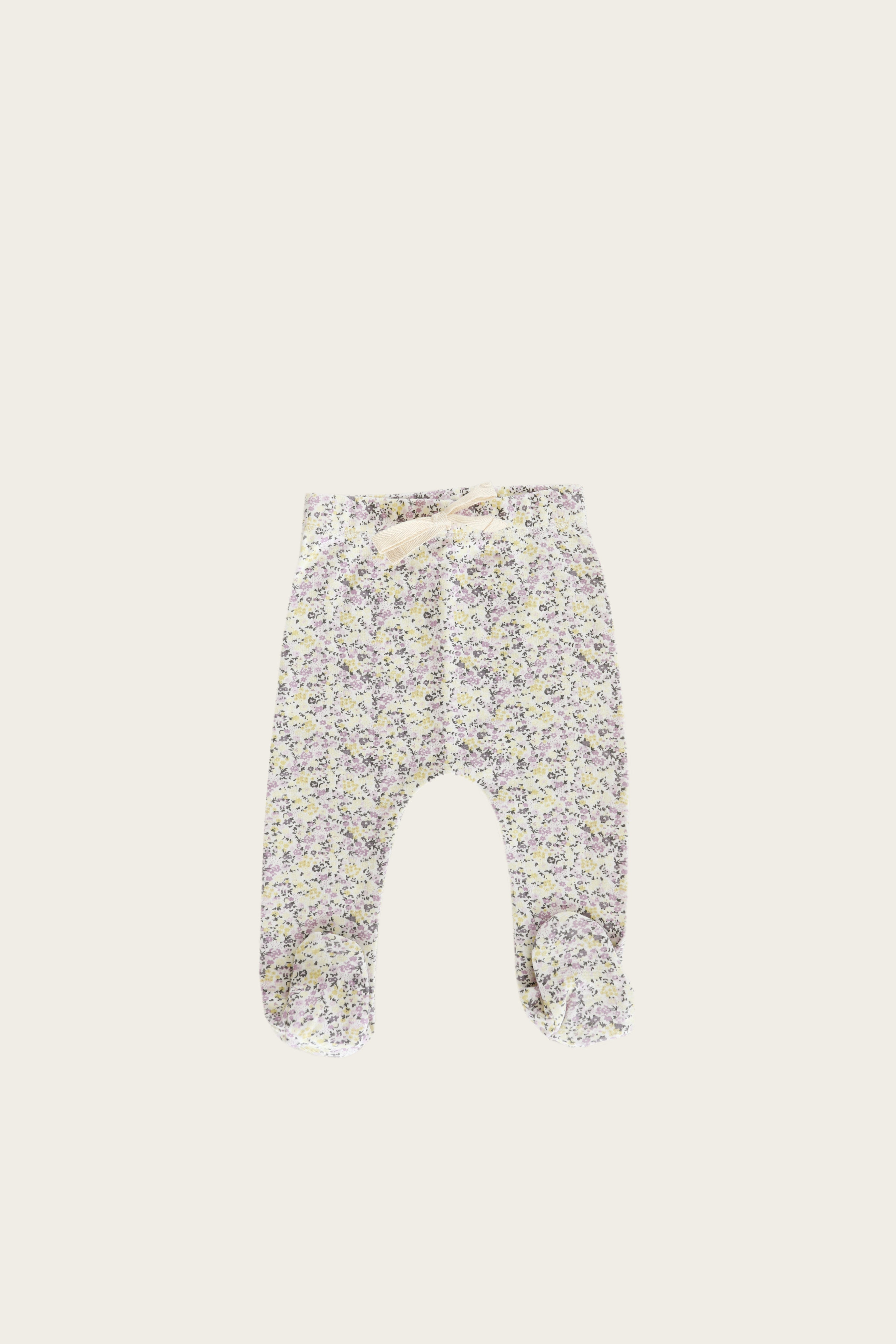 Organic Cotton Footed Pant - Summer Floral