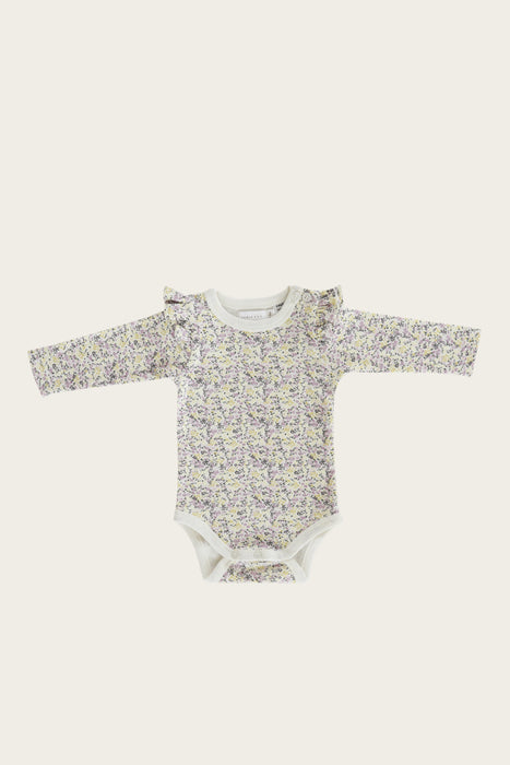 Organic Cotton Frill Bodysuit - Summer Floral