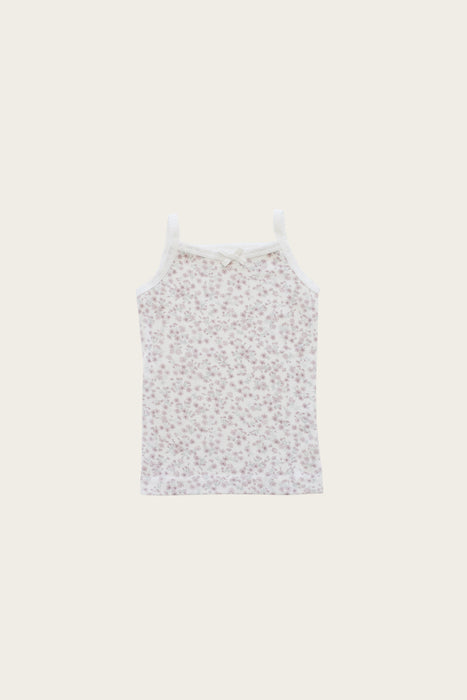 Organic Cotton Singlet - Posy Floral