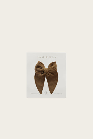 Organic Cotton Muslin Bow - Gold
