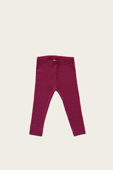 Organic Essential Leggings - Plum