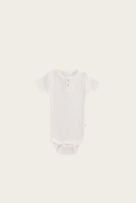 Organic Essential Tee Bodysuit - Milk