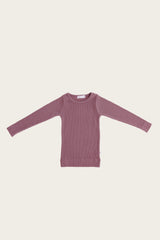 Organic Essential Long Sleeve Top - Nostalgia Rose