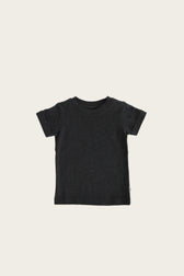 Organic Cotton Cam Tee - Dark Grey Marle