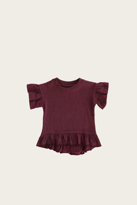 Organic Cotton Eden Top - Plum