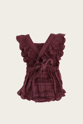 Organic Cotton Muslin Macy Playsuit - Grape