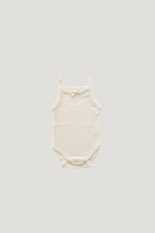 Pointelle Singlet Bodysuit - Natural