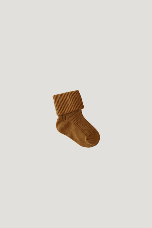 Rib Socks - Golden