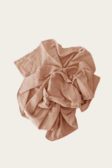 Organic Cotton Muslin Wrap Blanket - Sunset