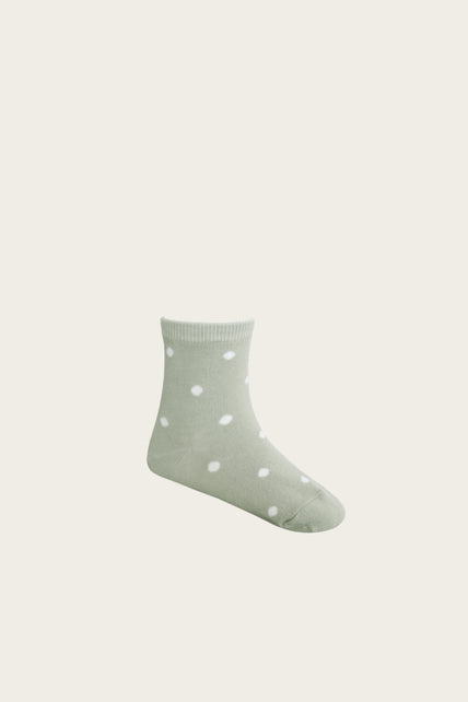 Dotty Sock - Honeydew
