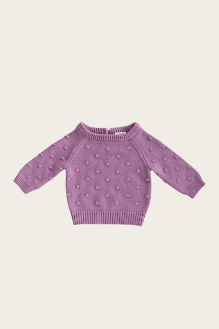 Dotty Knit - Grape