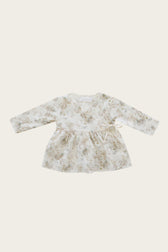 Organic Cotton Wrap Blouse - Esme Floral