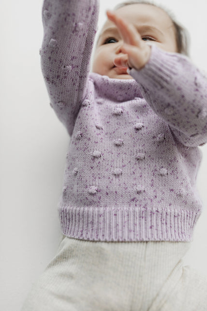 Dotty Knit - Lilac Fleck