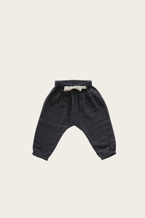 Organic Cotton Muslin George Pant - Graphite