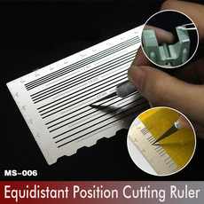 Equidistant Lines Cutting / Engraving / Drawing Ruler