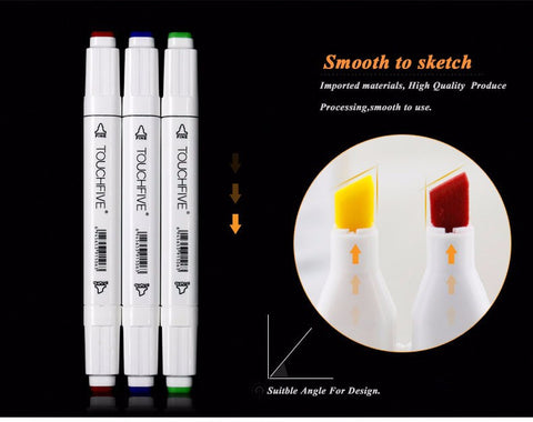 Sketch Marker Pens 30/40/60/80/168 Colors Set