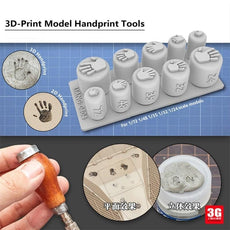 1/72 1/48 1/35 1/32 1/24 Scale 3D Printed Handprint Stamps