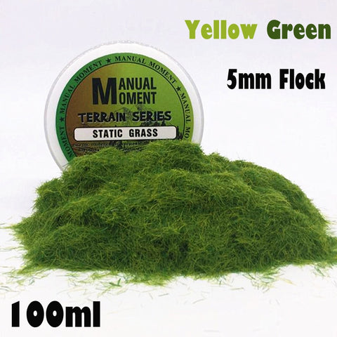 5mm Yellow Green Static Grass