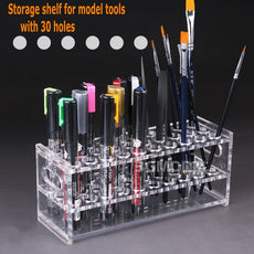 Holding Shelf With 30 Holes For Pens, Brushes Or Building Tools