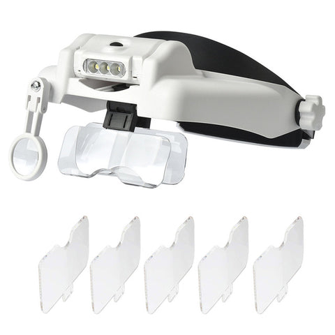 Multi-lens magnifying glasses (1.0x - 14.0x magnification)
