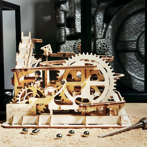 Wooden Waterwheel Coaster