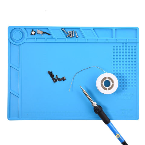 Heat Insulation Soldering  Silicone Desk Mat With Magnetic Section