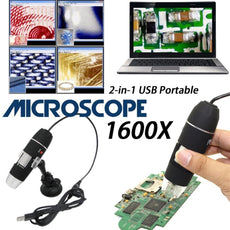 500X - 1600X, 8 LED Digital USB Microscope