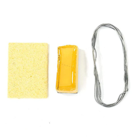 Soldering Iron Tip Cleaning Sponge Pad, Rosin and Lead Wire