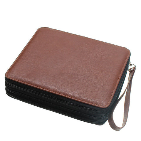 LEATHER (PU) PENCIL CASE (UP TO 124 PENCILS)