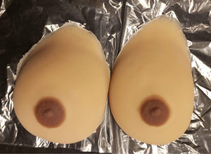 RM 048 GENDERMENDER SUPER-SQUISH SELF-ADHESIVE BREASTS - Large - Color 3049- READY TO SHIP Not customizable