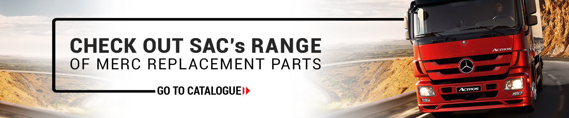 SAC Replacement Parts | Merc Banner