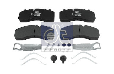 DAF CF65 DOUBLE DIFF FRONT/REAR BRAKE PAD KIT